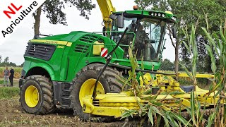 John Deere 9800i + Kemper 490 Plus - Introductie + DEMO - Mais hakselen 2018 - NL.