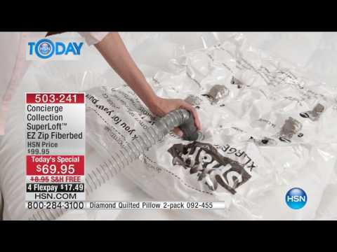 HSN | HSN Today: Concierge Collection Bedding / Beautyrest Mattresses 01.16.2017 - 08 AM