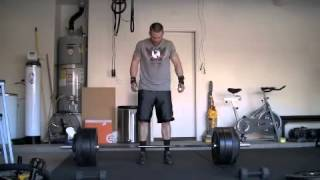 TV Fitness Transformation Star Chris Powell's Exclusive home workout video. 475 lb Dead Lift