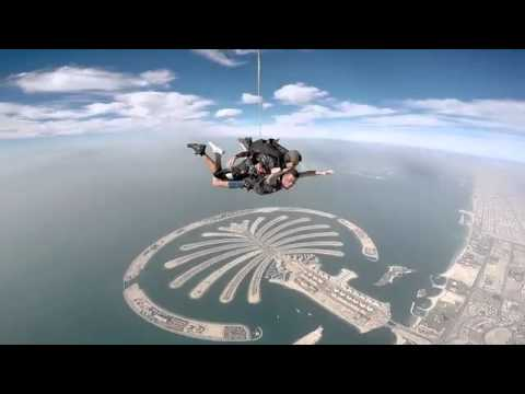 Spencer Evans Sky Dive Dubai. February 2015