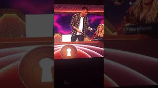 Through the key hole moment Joel Dommett thought Richard Blackwood was going to kick his a$$
