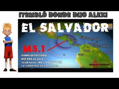M5.1 EL SALVADOR - EN ALERTA Y REGIÓN ANUNCIADA POR ALEX BACKMAN