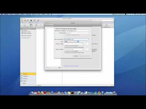 Config Mail Outlook 2011 Sous Mac
