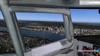 FS2004: Flight from Hamburg to New York John F. Kennedy Intl.  Airport with B757 American Airlines