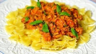 Итальянская паста с соусом
