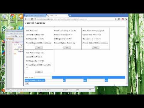 bidding application using php and mysql