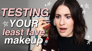 Full Face Of My SUBSCRIBERS LEAST FAVORITE MAKEUP (and making them work!) | Jamie Paige