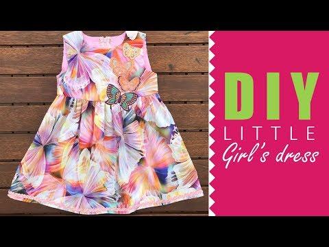 How to sew a basic girl's dress | DRESSMAKING
