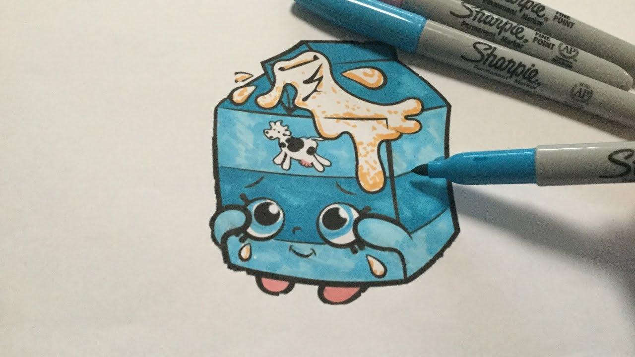 Lets color spilt milk 💜 shopkins coloring book color season 1 shopkins spilt milk