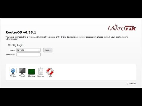 MikroTik Router First Time Startup and Setup using WebFig