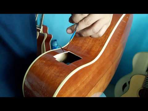 Installing Acoustic Pickup Fishman Mitchell  Guitar MO100SVS Part 2 | How To Install Acoustic Pickup