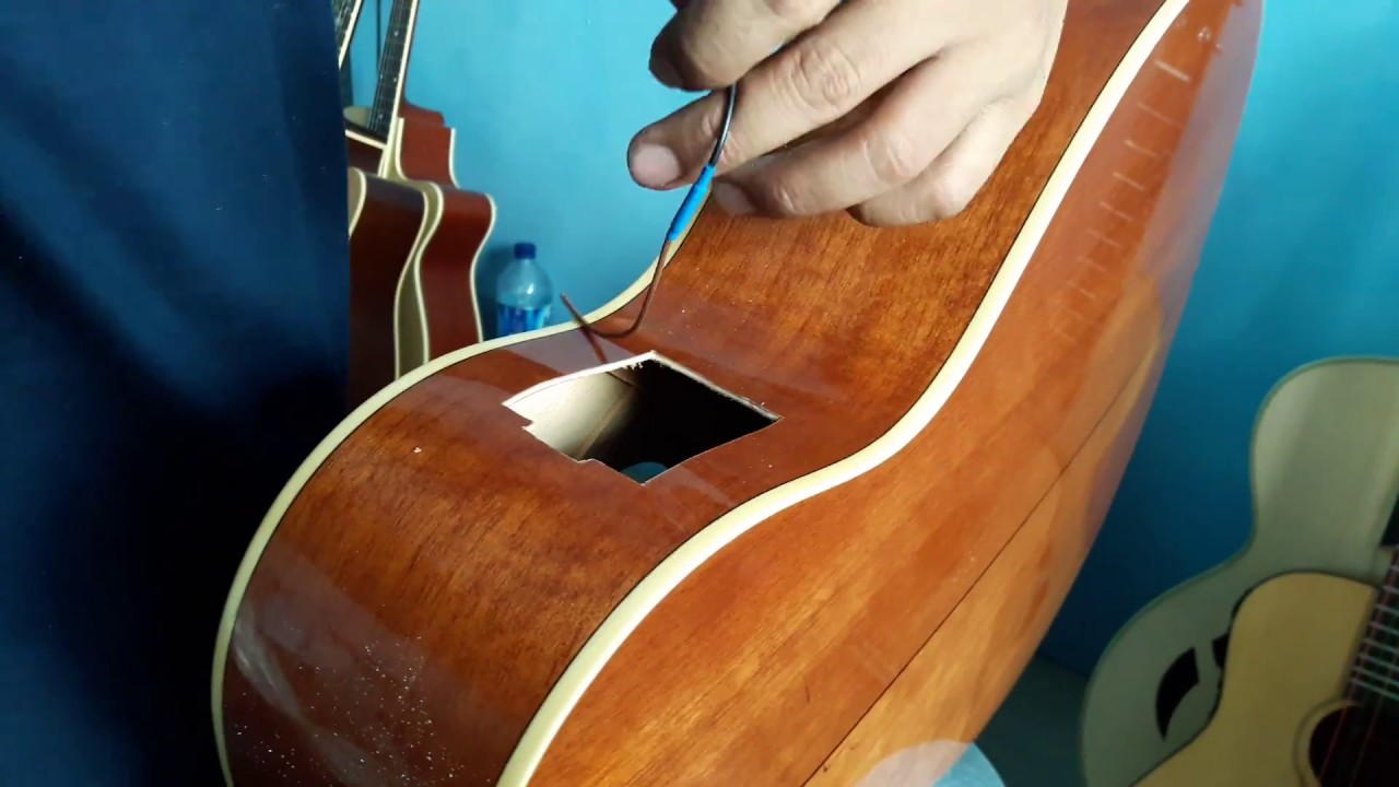 installing acoustic pickup fishman mitchell guitar mo100svs part 2 how to install acoustic. Black Bedroom Furniture Sets. Home Design Ideas