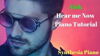 Hear me Now piano Tutorial | Alok - Synthesia Lesson | lyrics in description