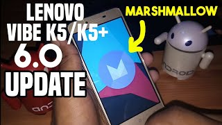 Latest Official Marshmallow Update For Lenovo Vibe K5 or Plus || No Bug