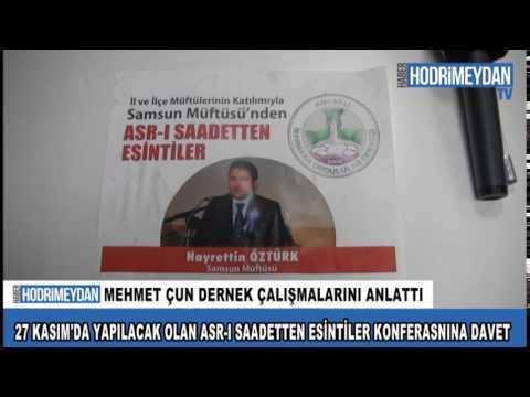 27 Kasım'da yapılacak olan Asr ı Saadetten Esintiler konferansına davet