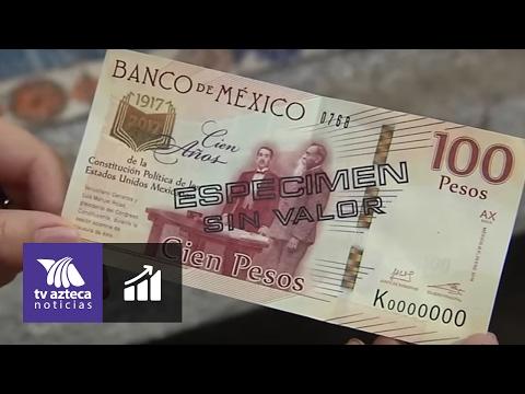 Nuevo billete conmemorativo de 100 pesos y moneda de 20 pesos