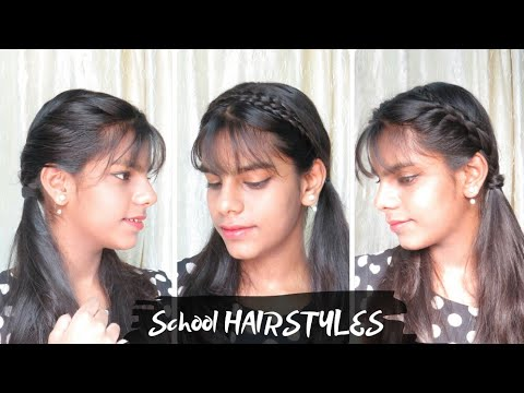 3 Cute And Easy Two Ponytail Hairstyle For School Kids Indian Hairstyle