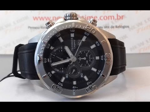 RELÓGIO TECHNOS CLASSIC LEGACY CRONÓGRAFO JS15BB 8P - New Look Time Relógios dda1b38aab