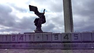 Soviet-time memorial monument in Riga/Latvia