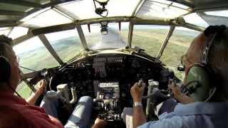 Departure of an Antonov An-2 filmed from the cockpit