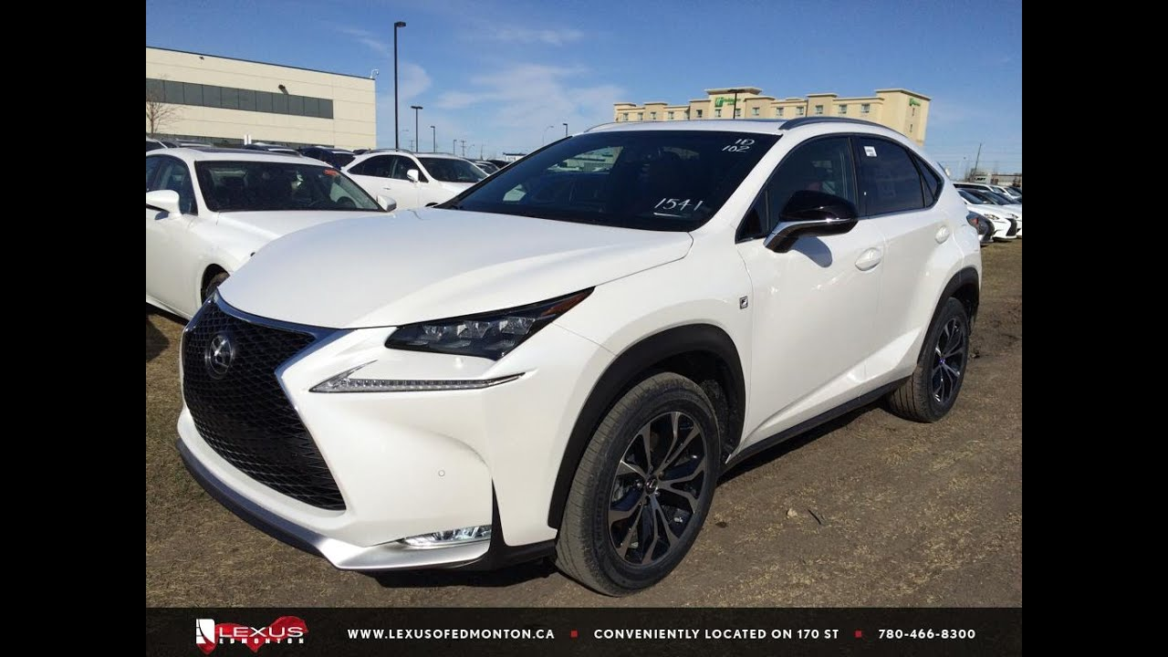 Lexus Nx Red >> New White on Red 2015 Lexus NX 200t AWD F Sport Series 1 Review | Lexus of Edmonton New - YouTube