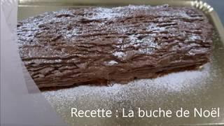 Recette de la bûche au chocolat
