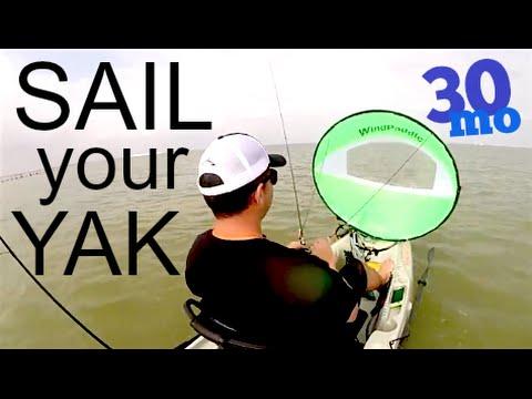 Review-  WINDPADDLE KAYAK FISHING SAIL