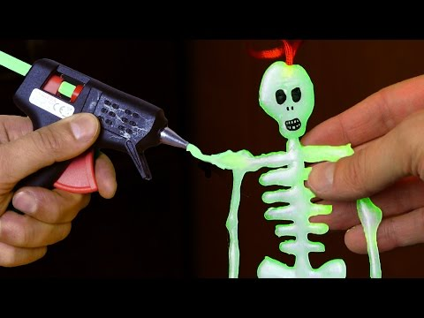 DIY Glow in the Dark Skeleton