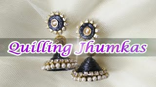 DIY paper Jhumka in 5 mins| Quilling earrings tutorial#2