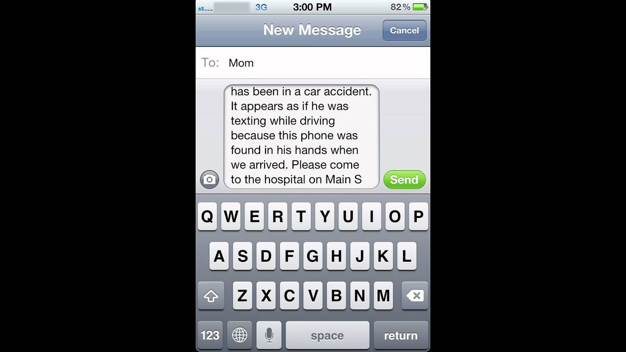 Texting While Driving Psa Youtube