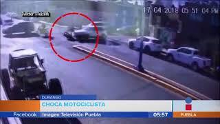 Motociclista se estrella contra vehículo    Noticias con Juan Carlos Valerio