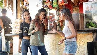 Annu Singh Uncut: Pani Puri Stealing prank Clip3   Eating Cute girl Pani Puri Prank   On BRannu