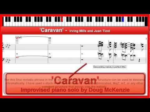'Caravan' - jazz piano lesson / tutorial - using the diminished scale(s)