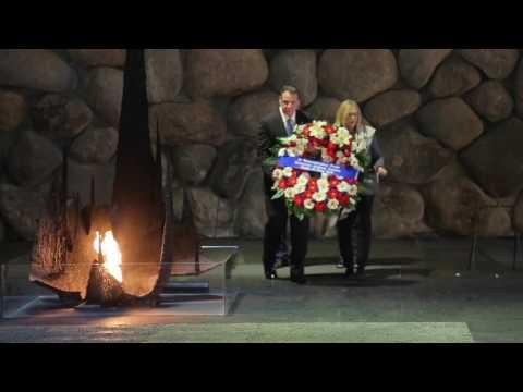 Eternal Flame at Yad Vashem in Jerusalem, Israel