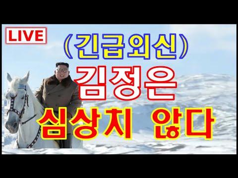 (생방송)긴급외신, 김정은심상치 않다191020
