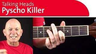 Psycho Killer Chords - Talking Heads - Guitar Lesson