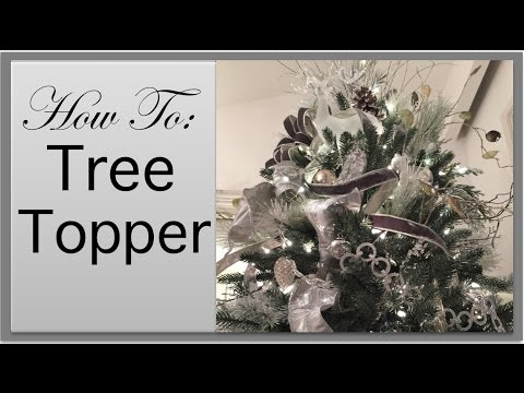 christmas decorations christmas tree topper diy youtube