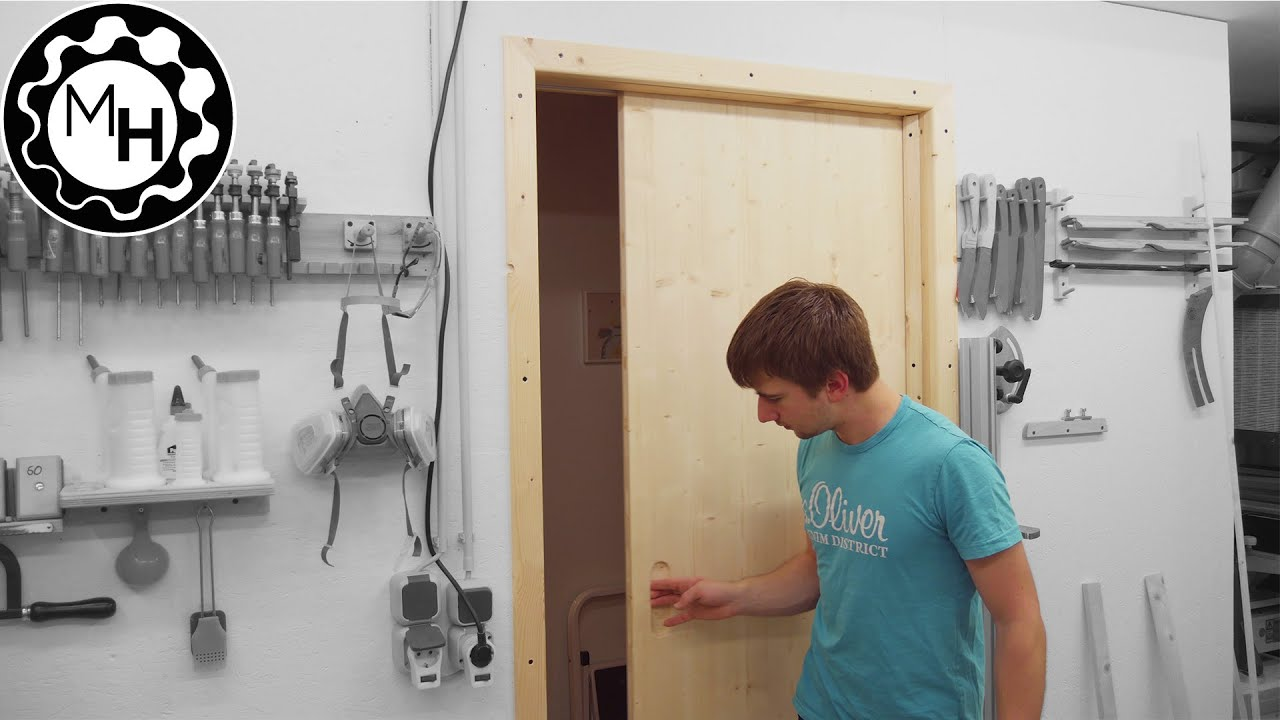 Installing A Sliding Door For The Workshop Youtube