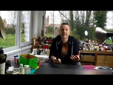 test et pr sentation de mat riel de peinture acrylique nettoyant pour tableaux youtube. Black Bedroom Furniture Sets. Home Design Ideas