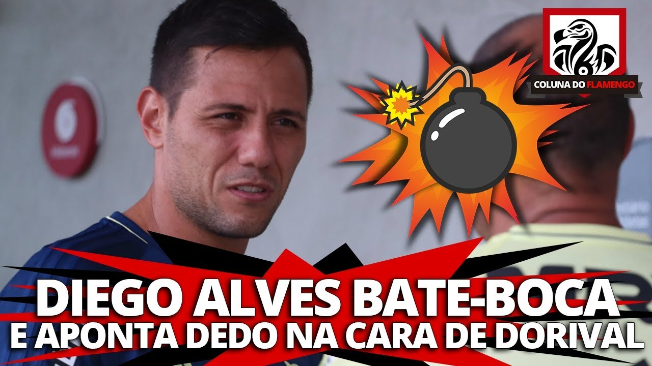 BOMBA! DIEGO ALVES BATE-BOCA E APONTA DEDO NA CARA DE DORIVAL - YouTube 630f2729730f8