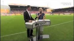 Sky Moderatorin Jessica Kastrop bekommt bei Mainz   Stuttgart Ball an den Kopf   Sport   Fußball   Bild de