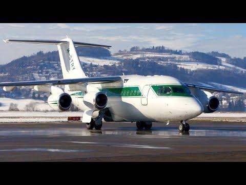 Avro RJ70 * FORMULA ONE * Landing & Taxi in at Bern