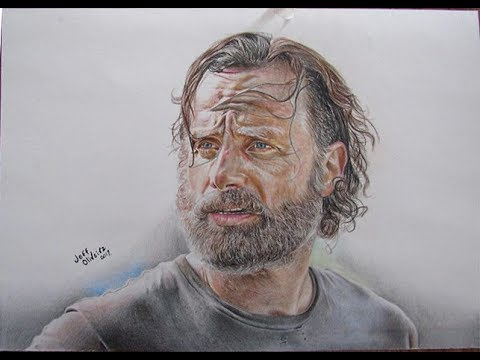 Drawing Rick The Walking Dead L Desenho Do Rick Youtube