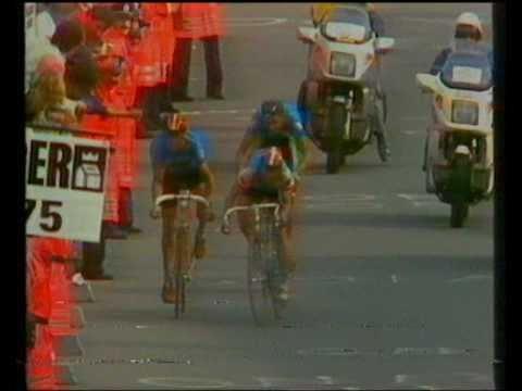 WK wielrennen Ronse 1988: laatste kilometer, met val Criquelion
