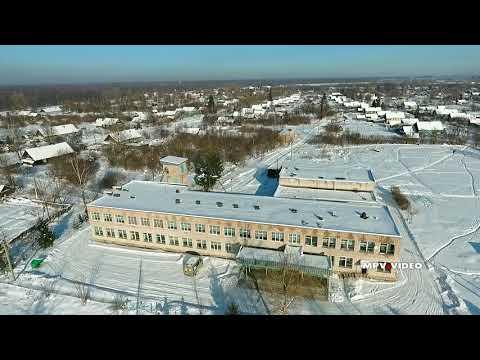 Поселок Уторгош зимой - обзор с высоты птичьего полета
