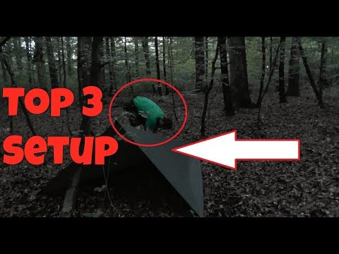 Tarp Setup für Bushcraft und Survival / Top 3 Favoriten Bushcraft und Outdoor