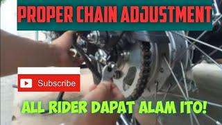 Proper chain adjustment ( Tagalog)