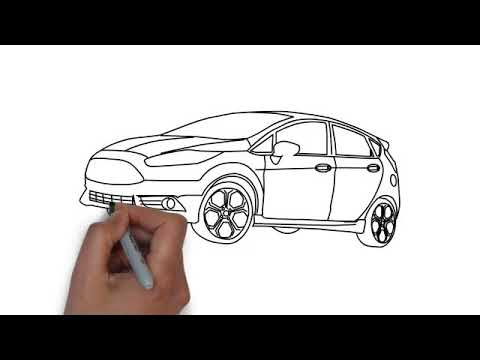How To Draw Ford Fiesta St