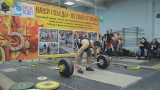 КМС Игорь Шаклеин (в.к.105 кг) рывок 137 кг + толчок 168 кг