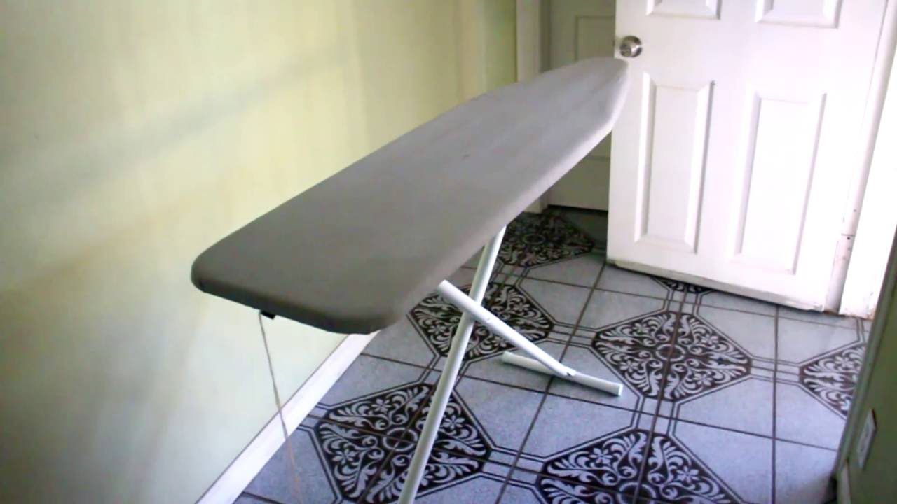 Fold up ironing board - How To Close Fold Up An Ironing Board Easy
